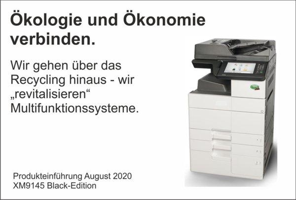News August – Ökologie und Ökonomie verbinden – Revitalisiertes DIN A3 Multifunktionssystem XM9145 Black-Edition