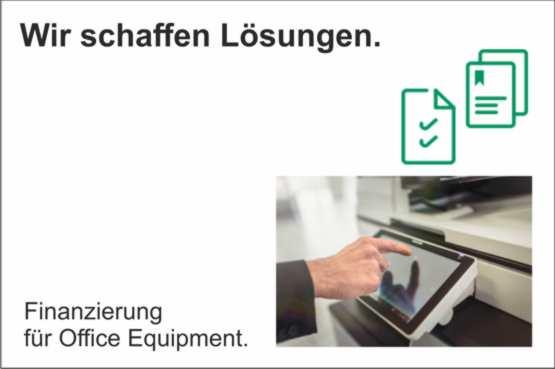 News August – Wir schaffen Lösungen. Finanzierung für Office Equipment.
